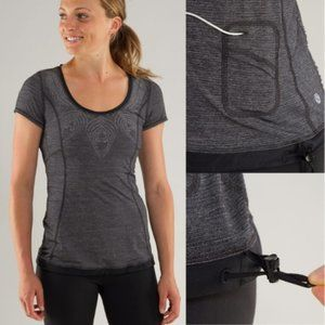 Lululemon Run Silver Bullet Short Sleeve Tech Top